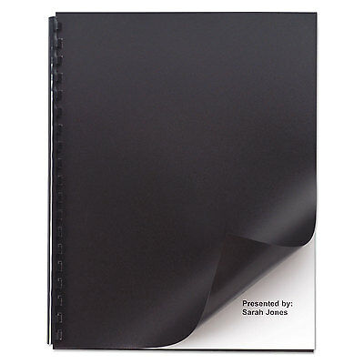 Opaque Plastic Presentation Binding System Covers, 11 X 8-1/2, Black, 50/pack