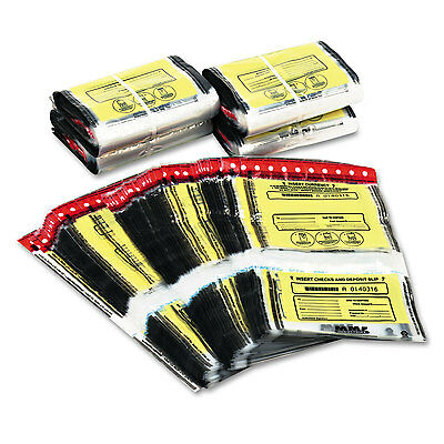 Tamper-Evident Twin Deposit Bags, 9 1/2 X 17 1/2, 100/box, Clear