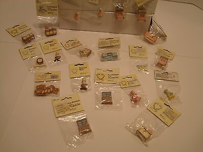 LOT OF 20 Vintage Doll House Accessory Wang's International Miniatures 1988 1989