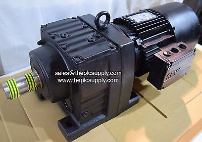 SEW Eurodrive 3-Phase 1.1kW 4-Pole Gearbox Electric Motor Brake Gear Drive 24RPM