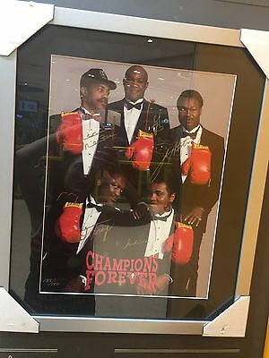 CHAMPIONS FOREVER Authentic Signed Muhammad Ali Joe Frazier Holmes Liston Norton
