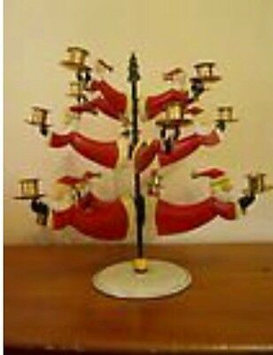 """Department 56 Time To Celebrate """"Flying Santa Candle Tree""""  NEW in BOX"""