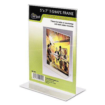 Clear Plastic Sign Holder, Stand-Up, 5 X 7
