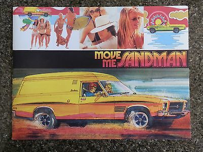 Holden 1974 Hq Sandman Sales  Brochure  100% Guarantee.