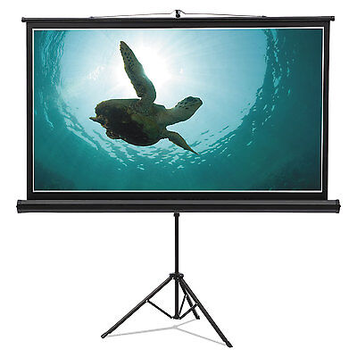 Wide Format Tripod Base Projection Screen, 52 X 92, White
