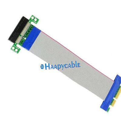 New PCI-E Express 4X Slot Riser Card Ribbon Extender Extension Adapter Cable
