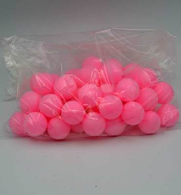 50pcs Ping Pong Ball Beer Table Tennis Lucky Dip Gaming Lottery Washable Pink