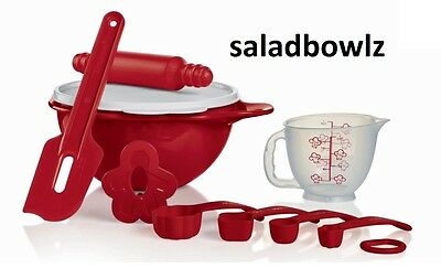 TUPPERWARE KIDS MY FIRST MINI BAKING SET Learn Play 6 pc Holiday Fun fREEsHIP