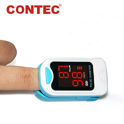 US Seller Fingertip Pulse Rate O2 Monitor Blood Oxygen Sensor SPo2 OXI Meter FDA
