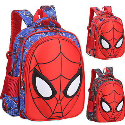 High Quality Cute 3D Spiderman School Bag Doll Backpack Children Bags For School