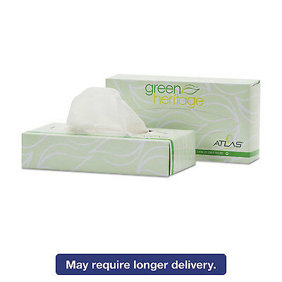 Green Heritage Facial Tissue, 2-Ply, White, 7 4/5 X 8, 100/box, 72 Box/carton