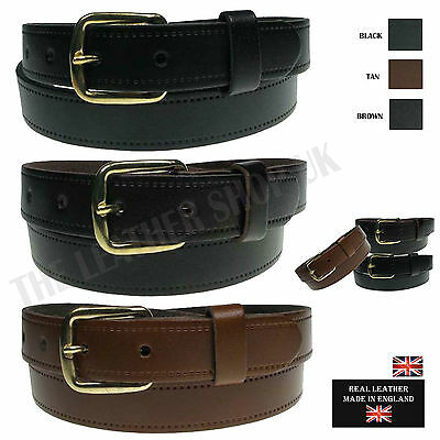 """Great Deal Any 3 Belts Full Grain Mens Real Leather 1/"""" wide sizes Made in the UK"""