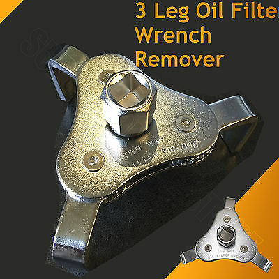 "3 Jaw Engine Oil Filter Removal Wrench Commercial Grade 1/2"" Drive 63mm-103mm"