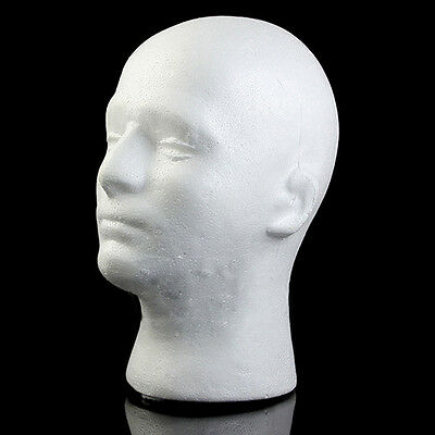 Male Mannequin Styrofoam Manikin Head Wig Glasses Hat Display Stand New Clever