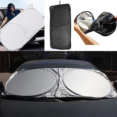 Car Front Window Sun Shade Visor Folding Jumbo Windshield Block Cover SUV Truck