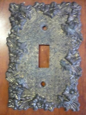Ornate Vintage Victorian Floral Basket Weave Single Light Switch Plate Cover EDM