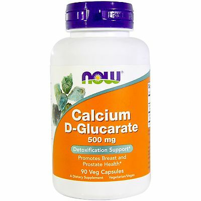 Calcium D-Glucarate - Now Foods, 500mg, 90 Veggie Caps, Detoxification Support