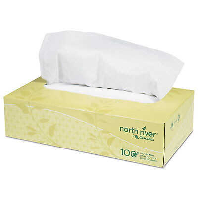 North River Facial Tissue, 2-Ply, 8 1/2 X 7 1/2, 100/box, 30 Boxes/carton