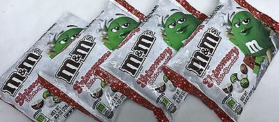 4 Bags m&m's SHIMMERY WHITE CHOCOLATE Chocolate Candy 8 oz Candies Christmas