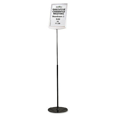 "Sherpa Infobase Sign Stand, Acrylic/metal, 40""-60"" High, Gray"