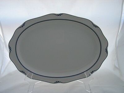 14 inch Oval Serving Platter in Clearlake by Noritake China - Made in Japan