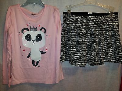 New Gymboree girls 2 piece set top and skirt Sz 7 And 8 NWNT