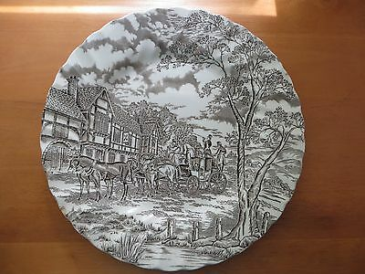 Royal Mail Fine Staffordshire Ironstone Brown Plate Made in England