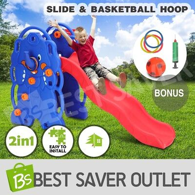 Kids Children's Basketball Hoop Toddlers Play Toy Activity Center Slide Set