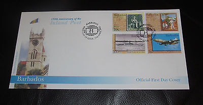 First Day Cover/Stamps - Barbados - 150th Anniversary of the Inland Post