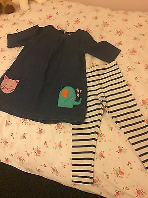 Girls Next Dress & Leggings Set Age 3-4