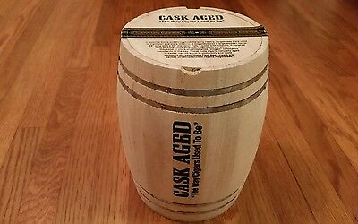 Cask Aged Wooden Cigar Barrel - Sancho Panza Label.  Replica of Hogshead Barrel