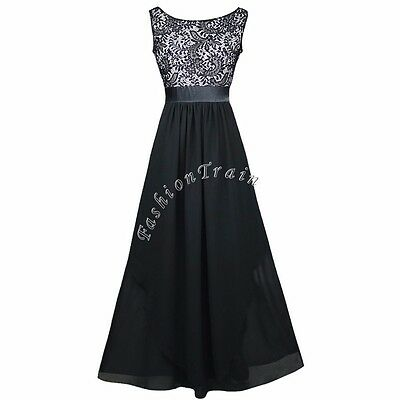 Women Formal Wedding Bridesmaid Evening Party Ball Prom Gown Cocktail Lace Dress
