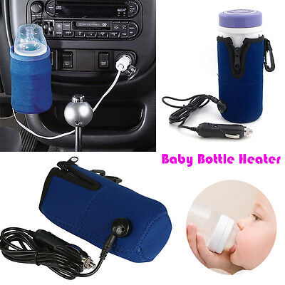 12V Baby Food Milk Water Drink Bottle Cup Warmer Heater Car Auto Travel AU