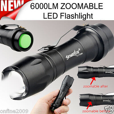 Super Bright 6000LM Flashlight ZOOMABLE CREE AA/14500 3 Modes LED Police Torch