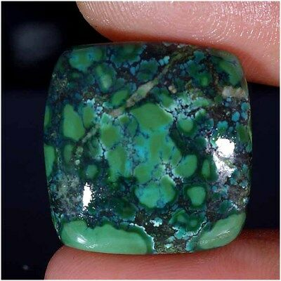 31.10Cts 100% NATURAL TIBET TURQUOISE CUSHION CABOCHON UNTREATED LOOSE GEMSTONES