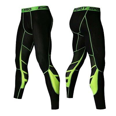 Gym Mens Compression Fitness Tights Base Layer Stretch Sports Running Pants V155