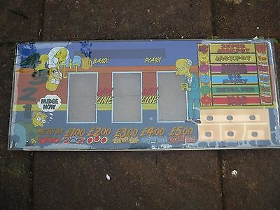 """""""The Simpsons"""" Vintage Fruit Machine Glass - Up-cycle Light Panel/Picture"""