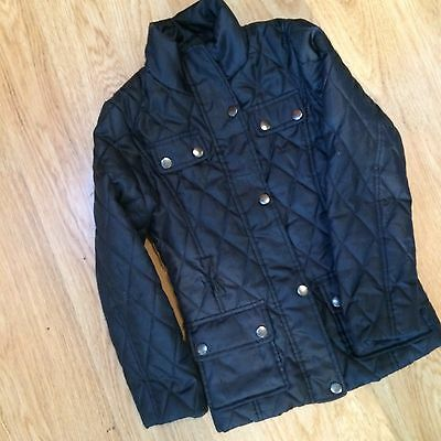 78) Stunning Navy Quilted Next Jacket  Age 5/6