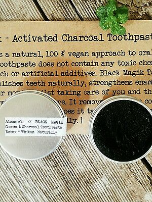 Natural Toothpaste Activated Charcoal Organic Coconut Travel Size Vegan