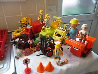 Bob The Builder Large Bundle Of Friction Vehicles And Figures