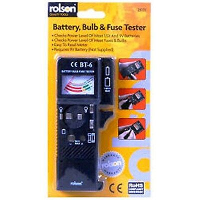 Rolson Battery, Bulb and Fuse Tester