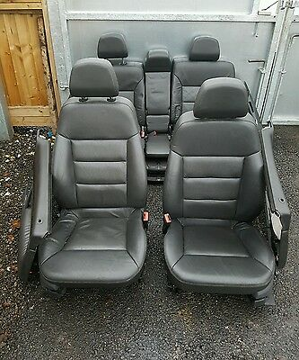 2005 Vauxhall Signum - Grey Leather Front & Rear Interior Seats With Door Cards