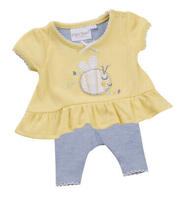 Premature Baby Girl's Flower Top & Leggings Clothing Set Outfit Sizes 5-8Lbs UK