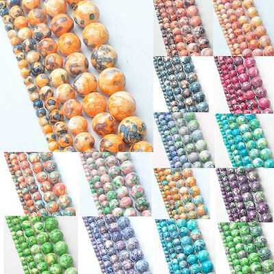 Wholesale DIY Natural Stone Loose Beads Charm Spacer Jewelry Making 4-12mm