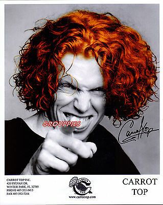 "CARROT TOP signed 8""X10"" PHOTO RP"