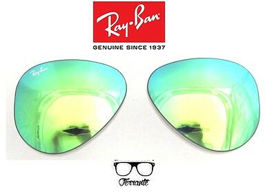 Lenti Ricambio Ray Ban 3025 58 Aviator Green Mirror Replacement Lenses Verde