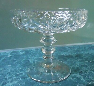 Vintage Crystal Small Footed Comport Diamond & Fan (Pineapple) Design