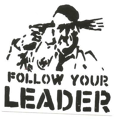 100 Follow your leader Aufkleber stickers Punk GNWP Anti Nazi Gegen Nazis Raus