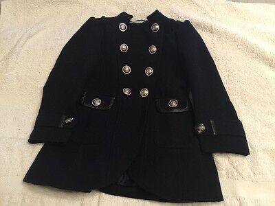 Little Girls Navy Military Style Coat - age 5