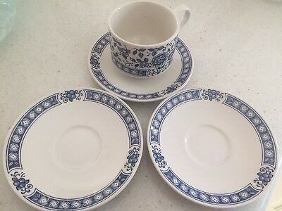 STAFFORDSHIRE  BROADHURST CUP AND SAUCER AND 2 Extra Saucers. Exc Cond